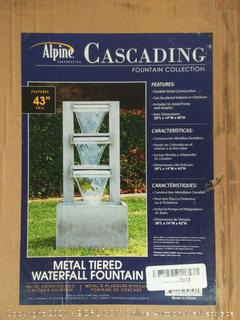 Alpine Corporation Metal Tiered Waterfall Fountain (Missing Pump) online $332