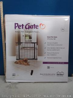 """MidWest Homes for Pets Steel Pet Gate   Pet Safety Gate; 29"""" & 39"""" Tall in Soft White or Textured Graphite (online $45)"""