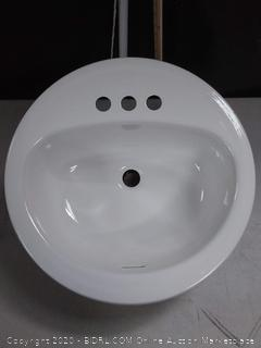 White Metal Sink