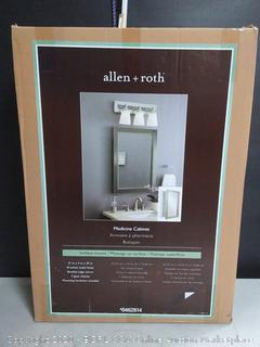 Allen + roth 22.25-in x 30.25-in Rectangle Surface Mirrored Medicine Cabinet (online $149)