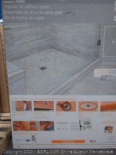 Schluter-Kerdi shower kit without grate