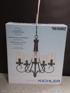 Kichler Diana 5-Light Olde Bronze French Country/Cottage Clear Glass Chandelier (online $159)