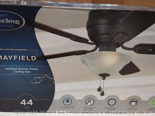 Mayfield 44-in antique bronze finish ceiling fan