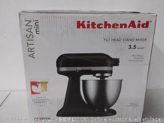 KitchenAid Artisan mini tilt head stand mixer 3.5 quart(powers on) (Retail $417)