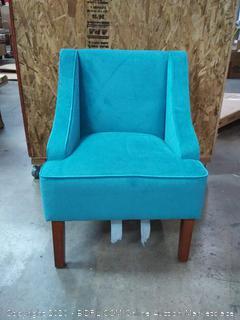 Swoop Arm Velvet Accent Chair (on floor)