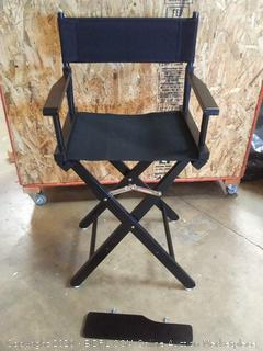 24 inch director chair frame black (on floor)