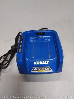 Kobalt 40v Max lithium ion battery charger (powers on)