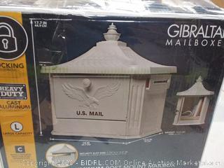 u.s. mail aluminum post mount mailbox
