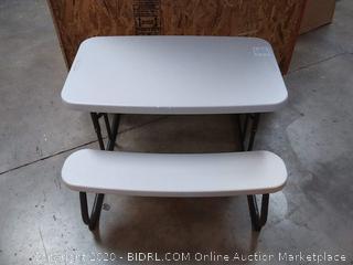 Lifetime 2.7 ft (0.83 m) Children's Folding Picnic Table - Beige (on shelf c5)