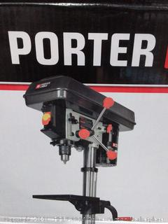 PORTER-CABLE 10-in 5-Speed Bench Drill Press (powers on)(Retails $159)(cubby 2)