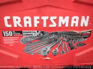 CRAFTSMAN 150-Piece Standard SAE and Metric Gunmetal (some pieces not in box)(used)(Retails $149)