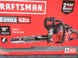 Craftsman 2-cycle 42cc chainsaw with 16 inch blade(Retails $149)