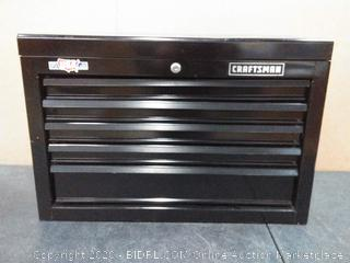 "Craftsman 5 drawer tool chest (can not lock no keys)keys(pallet 1)(26""w x 17.5""h x 12""d)"