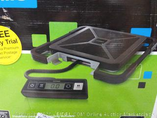 dymo digital shipping scale(bar on scale needs glue)(powers on)