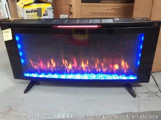Duraflame 42-in W Black Infrared Quartz Electric Fireplace small scabs on back side (online $269)