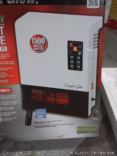Comfort Glow 1500-Watt Infrared Quartz Wall Mount Electric Space Heater (online $95)