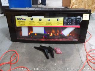 """Classicflame 42""""Wall-Mounted Infrared Quartz Electric Fireplace with Display Stand (online $252)"""