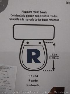 AquaSource white round toilet seat