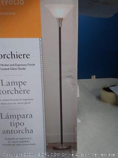 portfolio torchiere floor lamp missing glass shade