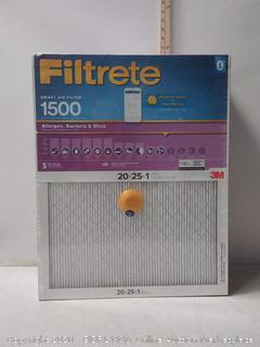 "Filtrete Smart Air Filter 1500 20""x25""x1"" (7 Ct.)"