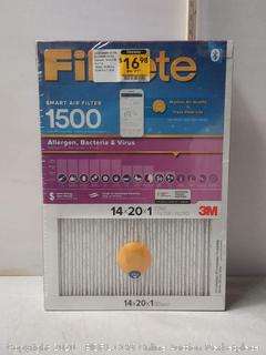 "Filtrete Smart Air Filter. 14""x20""x1"" (3 ct.)"