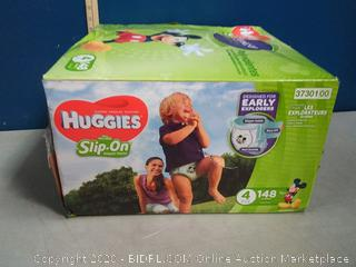 Huggies Little Movers Slip-On Diapers Size 4 Economy Plus Pack