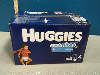 Huggies OverNites Diapers - Size 4 68 Count