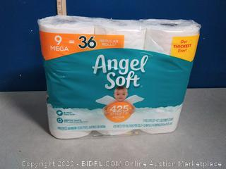 Angel Soft 9 Mega Toilet Paper Rolls