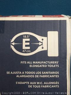 elongated toilet seat missing Hardware