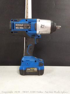 "KOBALT 1/2"" Brushless Impact Wrench and Battery"