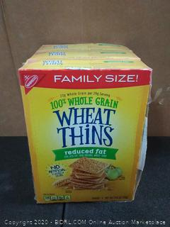 Wheat Thins Crackers (Reduced Fat, 14.5-Ounce Box)×3