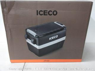 ICECO JP40 Portable Refrigerator Fridge Freezer, 12V Cooler Refrigerator, 40 Liters Compact Refrigerator with Secop Compressor, for Car & Home Use(powers on)(Retails $335)