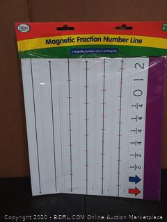 Didax Educational Resources 211024 Magnetic Fraction# Line Set, Multi