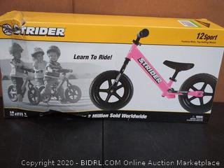 Strider - 12 Sport Balance Bike, Ages 18 Months to 5 Years, Pink