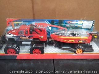 """Master Toys Friction Towing Truck with Boat, 20"""""""