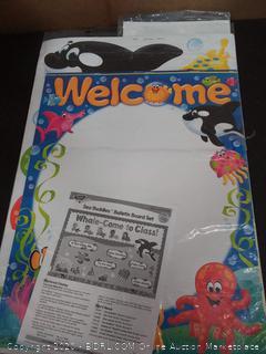 welcome bulletin board set