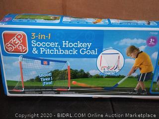 Step2 3-In-1 Soccer, Hockey & Pitchback Goal |