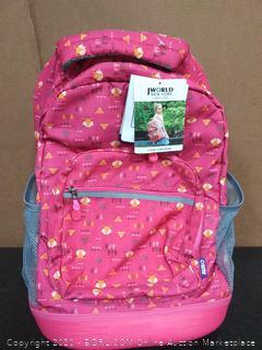 J World New York Sunrise Rolling Backpack Backpack, FOX