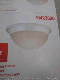 project Source flush-mount ceiling fixture missing glass shade