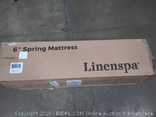 linenspa twin 6 in Spring mattress