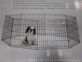 "Midwest Black E-Coat Pet Exercise Pen 8 Panels Black 24"" x 24"