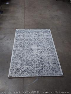 Nuloom Polypropylene 4' X 6' Rectangle Area Rugs In Grey Finish