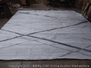 Smokey 12 foot by 15 foot grey rug