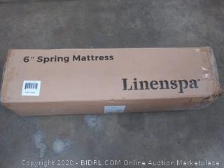 linenspa twin 6 inch spring mattress
