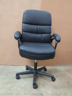 OFM Essentials Collection Bonded Leather Executive Manager's Chair with Arms, in Black