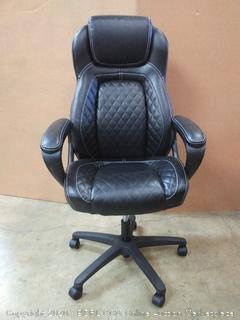 executive leather chair model ess-6060 (Retail $217)