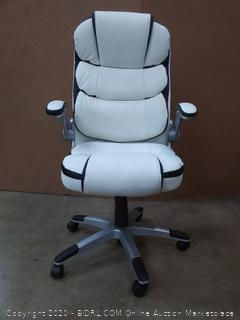 Yamasoro White leather office chair (chair B)