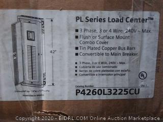 Siemens PL Main Lug Load Center, 120/240 VAC, 225 A, 3 Pole (online $242)