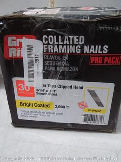 Grip-Rite GRSP12DZ Clipped Head 3-1/4-inch (online $48)
