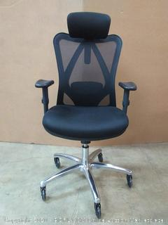 Duramont ergonomic adjustable office chair black(chair A)(Retail $299)
